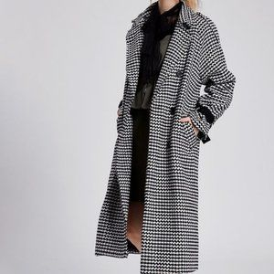 NWT Storets Lilly Houndstooth Coat XS